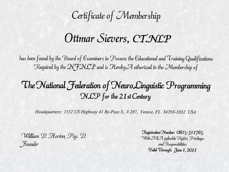 NLP - National Federation Of Neurolinguistic Programming